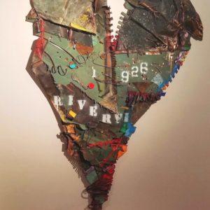 balise du temps est une oeuvre de l'artiste peintre jean gaudreau