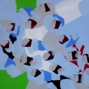 Oeuvre le chagrin de l'azur de l'artiste peintre marcel barbeau