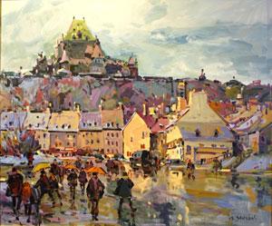 Une peinture de Serge brunoni